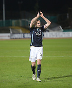 James McPake applauds the home support - Dundee v Dundee United - SPFL Premiership at Dens Park<br /> <br />  - &copy; David Young - www.davidyoungphoto.co.uk - email: davidyoungphoto@gmail.com
