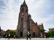 10 JUNE 2018 - SEOUL, SOUTH KOREA: The Catholic Cathedral in  Myeong-dong area of Seoul.   PHOTO BY JACK KURTZ