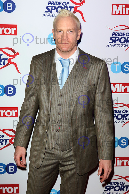 Iwan Thomas, Pride of Sport Awards, Grosvenor House Hotel, London UK, 07 December 2016, Photo by Richard Goldschmidt