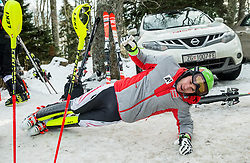 "Michael Matt (AUT) at warming up prior to the 1st Run of FIS Alpine Ski World Cup 2017/18 Men's Slalom race named ""Snow Queen Trophy 2018"", on January 4, 2018 in Course Crveni Spust at Sljeme hill, Zagreb, Croatia. Photo by Vid Ponikvar / Sportida"