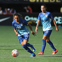 ORLANDO, FL - OCTOBER 25: Marta #10 of Brazil dribbles the ball during a women's international friendly soccer match between Brazil and the United States at the Orlando Citrus Bowl on October 25, 2015 in Orlando, Florida. (Photo by Alex Menendez/Getty Images) *** Local Caption *** Marta