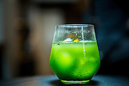 Matcha drink at the Ishinohana Bar Shibuya,Tokyo, Japan