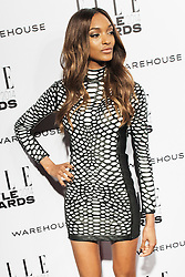 © Licensed to London News Pictures. 18/02/2014. London, UK. Model Jourdan Dunn arrives on the red carpet for the Elle Style Awards on the Embankment in central London. Photo credit : Andrea Baldo/LNP
