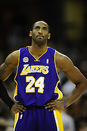 Kobe Bryant of the Los Angeles Lakers..The Cleveland Cavaliers defeated the visiting Los Angeles Lakers 94-90 at Quicken Loans Arena in Cleveland, December 20, 2007. LeBron James led the Cavs with 33 points while Kobe Bryant paced the Lakers with 21..