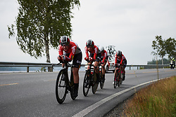 Lotto Soudal Ladies at Ladies Tour of Norway 2018 Team Time Trial, a 24 km team time trial from Aremark to Halden, Norway on August 16, 2018. Photo by Sean Robinson/velofocus.com