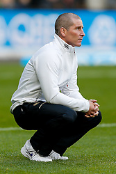 England Head Coach Stuart Lancaster looks on before the match - Photo mandatory by-line: Rogan Thomson/JMP - 07966 386802 - 29/11/2014 - SPORT - RUGBY UNION - London, England - Twickenham Stadium - England v Australia - QBE Autumn Internationals.