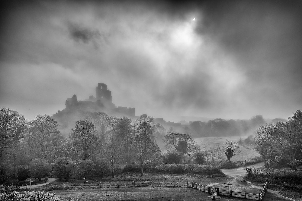 ENGLAND, Corfe. 6th May 2013. Corfe Castle.