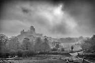 ENGLAND, Corfe. 6th May 2013. Corfe Castle.