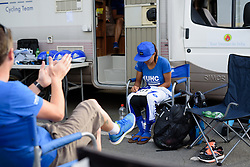 Coryn Rivera carefully pining her numbers at Thüringen Rundfarht 2016 - Stage 4 a 19km time trial starting and finishing in Zeulenroda Triebes, Germany on 18th July 2016.