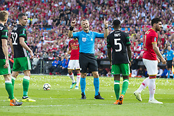 referee Bjorn Kuipers during the Dutch Toto KNVB Cup Final match between AZ Alkmaar and Feyenoord on April 22, 2018 at the Kuip stadium in Rotterdam, The Netherlands.