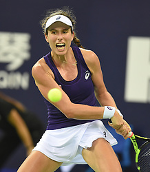 ZHUHAI, Nov. 5, 2016  Johanna Konta of Britain returns a hit during the women's singles semifinal against Elina Svitolina of Ukraine at the WTA Elite Trophy tournament in Zhuhai, south China's Guangdong Province,on Nov. 5, 2016. Johanna Konta lost 1-2. (Credit Image: © Lu Hanxin/Xinhua via ZUMA Wire)