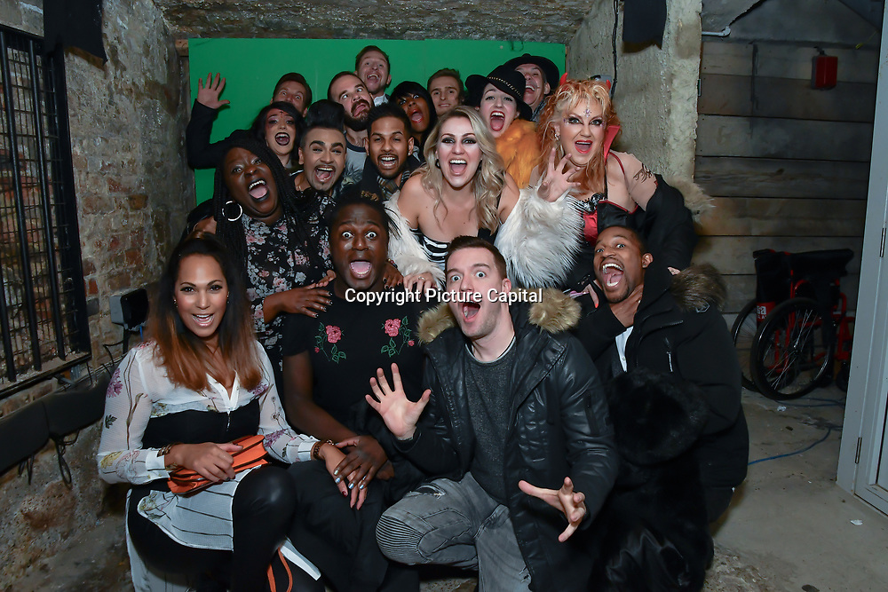 BBC1 All Together Now Series 1 Cast Members, fright night at The London Bridge Experience & London Tombs on 28 October 2018, London, UK.