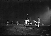 20/02/1963.02/20/1963.20 February 1963.Manchester United v Bohemians/Shamrock Rovers at Dalymount Park. Pat Crerand (Man. Utd), arms outstreached heads clear from Mooney (Bohs/Rovers).