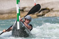 Michal SMOLEN of United States of America during the Kayak Single (MK1) Mens Semi Final race of 2019 ICF Canoe Slalom World Cup 4, on June 30, 2019 in Tacen, Ljubljana, Slovenia. Photo by Sasa Pahic Szabo / Sportida