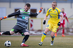 Matija Kovacic of NK Aluminij during football match between NK Domzale and NK Aluminij in Round #24 of Prva liga Telekom Slovenije 2017/18, on March 18, 2018 in Sports park Domzale, Domzale, Slovenia. Photo by Urban Urbanc / Sportida