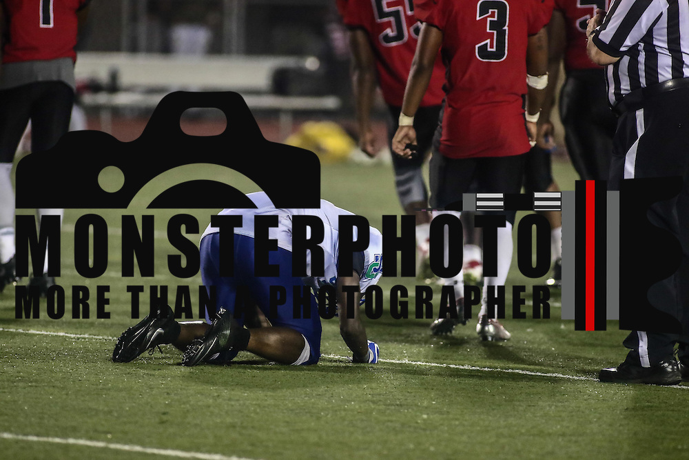 St. Georges running back CRAIG CONGO (1) seen dejected after St. Georges loses a heart breaking DIAA game between William Penn and St. Georges, Friday, Sept. 09, 2016 at CARAVEL Academy in Bear, DE.