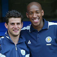 St Johnstone midfielder Colin Marshall pictured with his old Aston Villa team mate Dion Dublin, when they met again during a pre-season friendly at McDiarmid Park.<br />