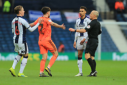 March 9, 2019 - West Bromwich, England, United Kingdom - Referee Andy Woolmer takes control of the situation between James Morrison of West Bromwich Albion and Gwion Edwards of Ipswich Town during the Sky Bet Championship match between West Bromwich Albion and Ipswich Town at The Hawthorns, West Bromwich on Saturday 9th March 2019. (Credit Image: © Leila Coker/NurPhoto via ZUMA Press)