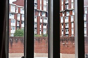 A view of the neighbouring block of flats from HMP Holloway, the main womens prison in London.