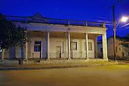Night street in Cumanayagua, Cienfuegos, Cuba.