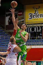 Miha Zupan of Slovenia basketball national team in action against Hungary during Trofej Beograd tournament third place match at Pionir arena  in Belgrade, Serbia on August 9th 2012.Foto: Marko Metlas / MN Press / Sportida.com
