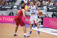Spain Quino Colom and Slovenia Luka Rupnik during FIBA European Qualifiers to World Cup 2019 between Spain and Slovenia at Coliseum Burgos in Madrid, Spain. November 26, 2017. (ALTERPHOTOS/Borja B.Hojas)
