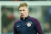 Kevin De Bruyne (#17) of Manchester City warms up ahead of the Premier League match between Newcastle United and Manchester City at St. James's Park, Newcastle, England on 27 December 2017. Photo by Craig Doyle.