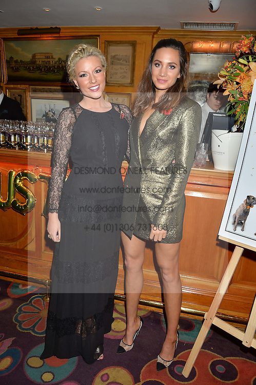 Left to right, singers NATALIE RUSHDIE and  LAURA WRIGHT at a dinner to celebrate the 125th anniversary of the Dog's Trust held at Annabel's, Berkeley Square, London on 1st November 2016.