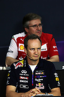 Paul Monaghan (GBR) Red Bull Racing Chief Engineer in the FIA Press Conference.<br /> Japanese Grand Prix, Friday 3rd October 2014. Suzuka, Japan.