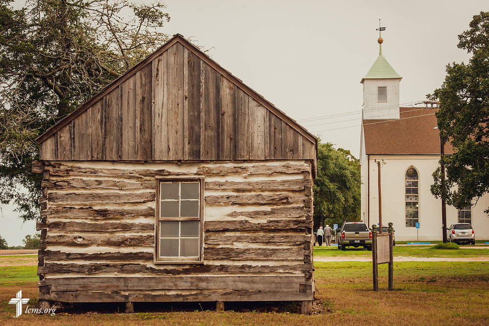 The Kilian Cabin on Sunday, Sept. 23, 2018, next to St. Paul Lutheran Church, Serbin, Texas. The cabin served as a church, school, and parsonage built by the Wendish immigrants. LCMS Communications/Erik M. Lunsford