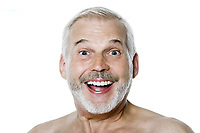 caucasian man portrait happy smiling isolated studio on white background
