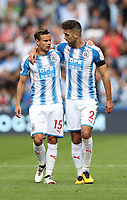 Football - 2017 / 2018 Premier League - Huddersfield Town vs. Newcastle United<br /> <br /> Chris Lowe and Tommy Smith of Huddersfield Town at The John Smith Stadium.<br /> <br /> COLORSPORT/LYNNE CAMERON