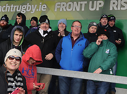 Ballinrobe&rsquo;s supporters all smiles at the Connacht junior plate at the Sportsground in Galway. <br /> Pic Conor McKeown
