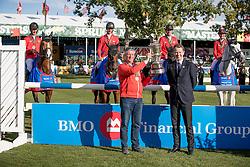 Team Switzerland, Jufer Alain, Steinr Peter Nadia, Guerdat Steve, Muff Werner, Montavon Stephane<br /> CSIO 5* Spruce Meadows Masters - Calgary 2016<br /> © Hippo Foto - Dirk Caremans<br /> 11/09/16