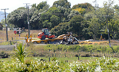 Hamilton-Fatal truck v train at Rangiriri