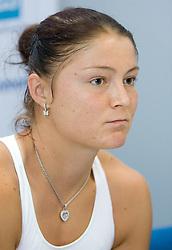 Best player of the world Dinara Safina of Russia at press conference after 1st Round of Banka Koper Slovenia Open WTA Tour tennis tournament, on July 20 2009, in Portoroz / Portorose, Slovenia. (Photo by Vid Ponikvar / Sportida)