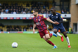 Gwion Edwards of Ipswich Town drives past Elvis Bwomono of Southend United - Mandatory by-line: Arron Gent/JMP - 27/10/2019 - FOOTBALL - Roots Hall - Southend-on-Sea, England - Southend United v Ipswich Town - Sky Bet League One
