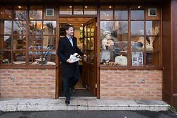 © Licensed to London News Pictures . 13/01/2015 . Stockport , UK . Deputy Prime Minister NICK CLEGG visits Cowburn's Family Backery on High Lane in Hazel Grove . Photo credit : Joel Goodman/LNP
