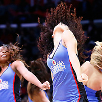 12 December 2016: The LA Clippers Dancers perform during the LA Clippers 121-120 victory over the Portland Trail Blazers, at the Staples Center, Los Angeles, California, USA.