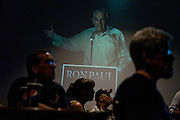 Republican presidential candidate Rep. Ron Paul speaks at a campaign stop in Davenport, IA, August 2, 2011.