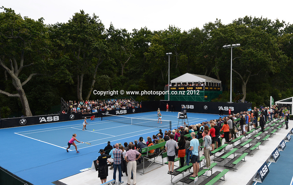 General view of court 4 at the ASB Classic. ASB Tennis Centre, Auckland. New Zealand. Thursday 3 January 2013. Photo: Andrew Cornaga/Photosport.co.nz