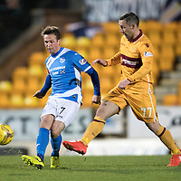 St Johnstone v MotherwellÖ17.12.16     McDiarmid Park    SPFL<br /> Chris Millar and Scott McDonald<br /> Picture by Graeme Hart.<br /> Copyright Perthshire Picture Agency<br /> Tel: 01738 623350  Mobile: 07990 594431