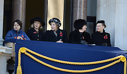 (2nd from right ) Cherie Blair during the annual Remembrance Sunday Service at the Cenotaph, Whitehall, London, England. Sunday, 10th November 2013. Picture by Andrew Parsons / i-Images