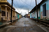 Street in Baracoa, Cuba 2020 from Santiago to Havana, and in between.  Santiago, Baracoa, Guantanamo, Holguin, Las Tunas, Camaguey, Santi Spiritus, Trinidad, Santa Clara, Cienfuegos, Matanzas, Havana