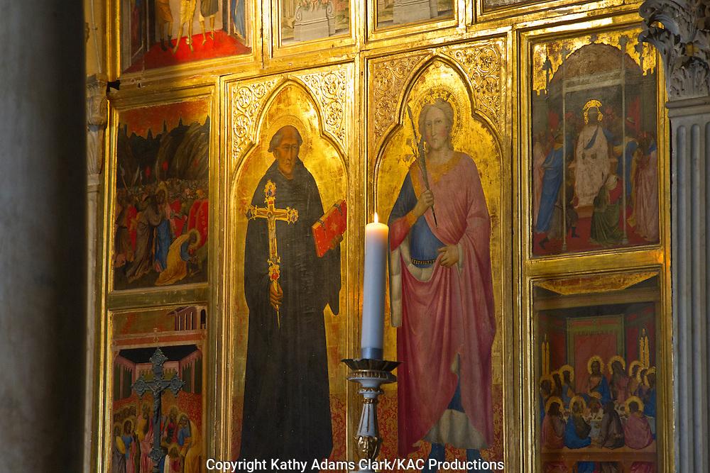San Miniato al Monte, interior art, Florence, Firenze, Italy.