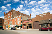 Iowa USA, A 19th century building in Dubuque IA.