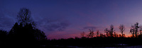 Colorful Clouds After Sunset. In camera panorama (jpg) taken with a Fuji X-T1 camera and 16 mm f/1.4 lens (ISO 200, 16 mm, f/2.8 1/125 sec).