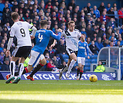 Dundee&rsquo;s Greg Stewart runs at Rangers&rsquo; Rob Kiernan - Rangers v Dundee, William Hill Scottish Cup quarter final at Ibrox Park<br /> <br />  - &copy; David Young - www.davidyoungphoto.co.uk - email: davidyoungphoto@gmail.com