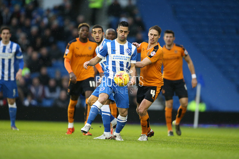 Brighton central midfielder, Beram Kayal (7) during the Sky Bet Championship match between Brighton and Hove Albion and Wolverhampton Wanderers at the American Express Community Stadium, Brighton and Hove, England on 1 January 2016.