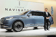 Mar 23, 2016 - New York, New York, U.S. - Actor MATTHEW MCCONAUGHEY on stage during the reveal of the 2017 Lincoln Navigator Concept at the New York International Auto Show.  (Credit Image: © Exclusivepix Media)
